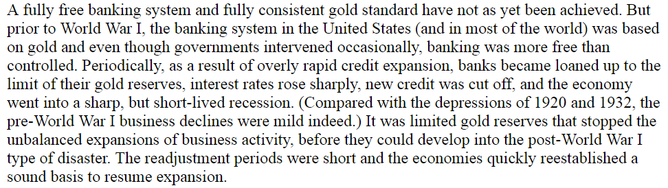 Gold and Economic Freedom Alan Greenspan fraction