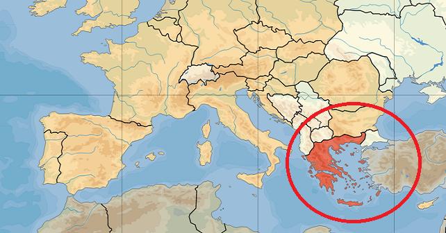 Grecja na mapie wykres