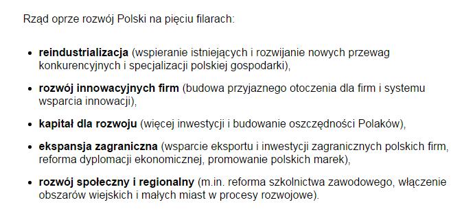 Plan Morawieckiego pięć filarów