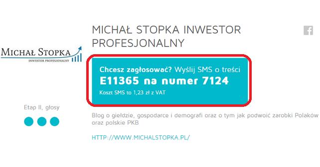 blor roku finał Michał Stopka Inwestor Profesjonalny