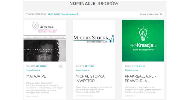 Blog roku 2015 nominacja