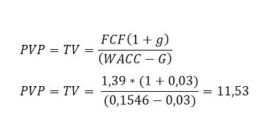 Obliczenia Terminal Value dla spółki