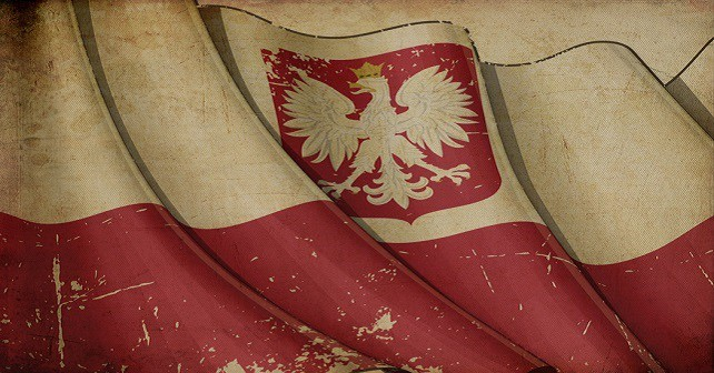 Polish State Flag (with eagle insignia) Old Paper