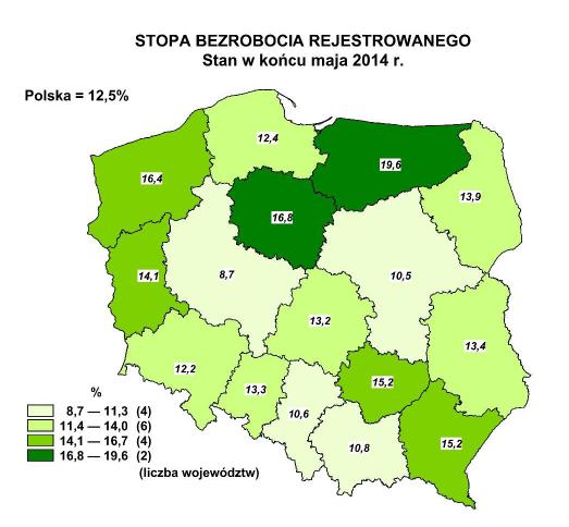 bezrobocie maj 2014