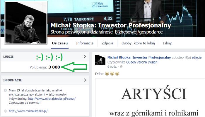 3 000 Fanów Facebook 2.0