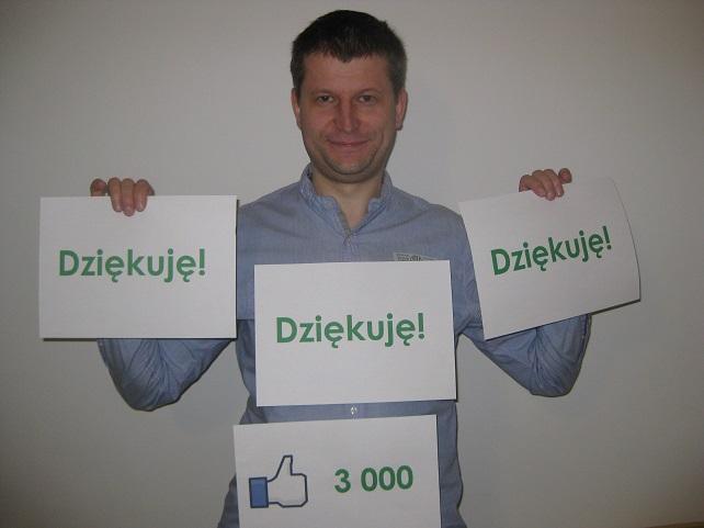 3000 fanów na facebooku